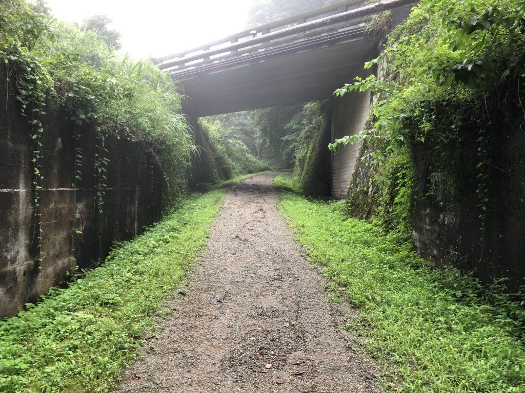 旧国道18号の下