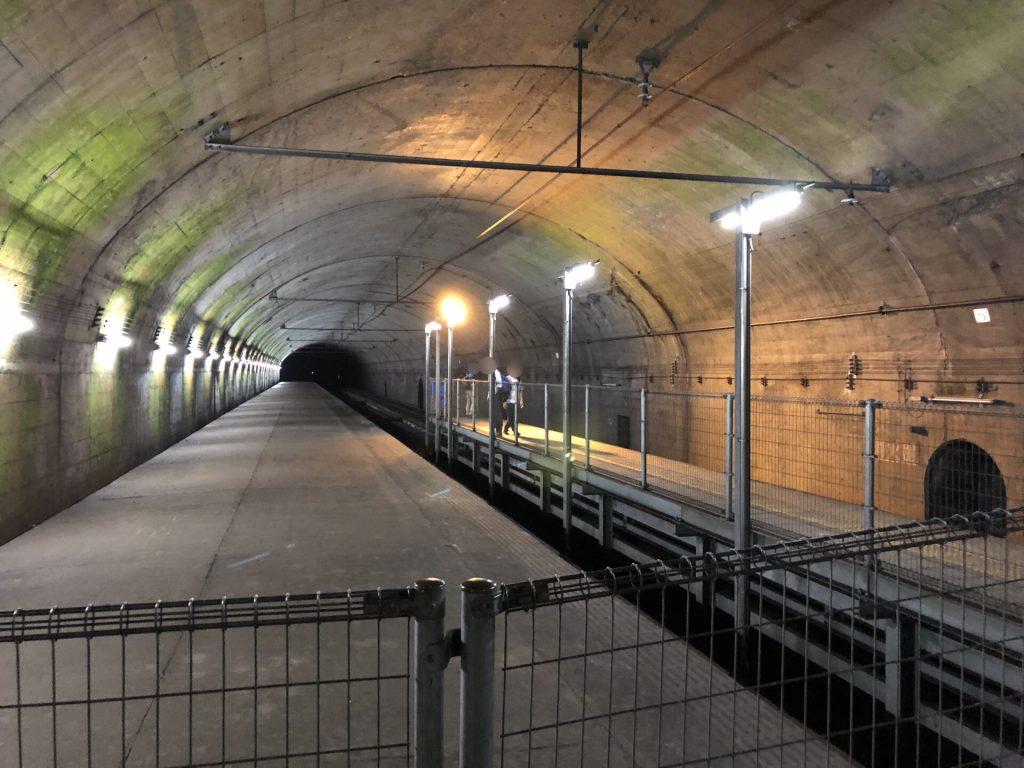 土合駅 下り線水上方面