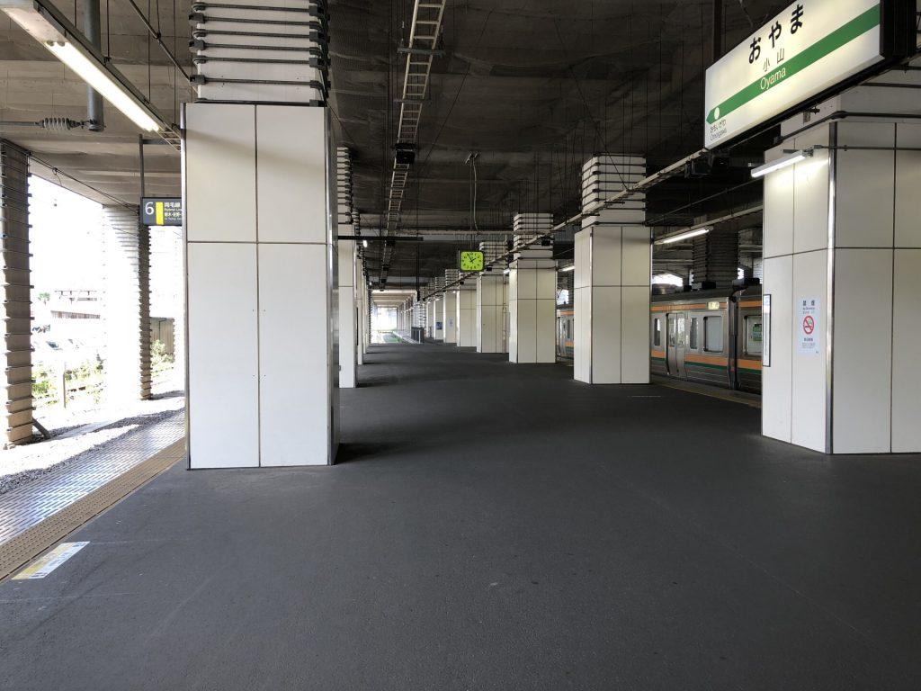 小山駅 両毛線ホーム